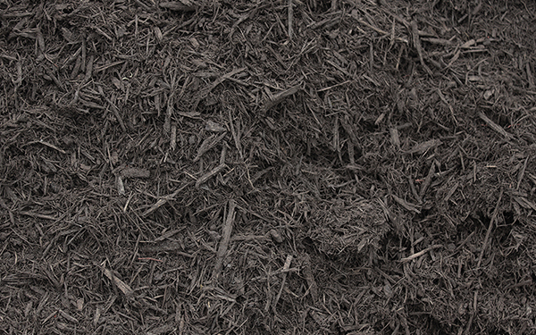 Black Premium Shredded Hardwood Colorized Mulch