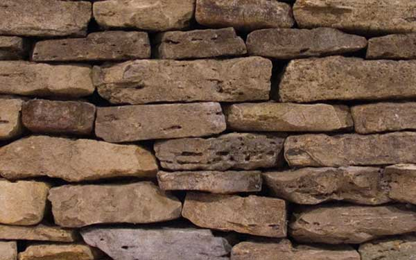 Weathered Fieldstone Natural Wall – Thick
