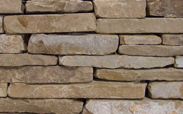 Choctaw Tumbled 2 inch - 3 inch Natural Wall