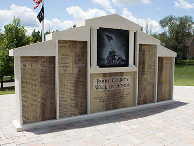 Veterans Monument Wall