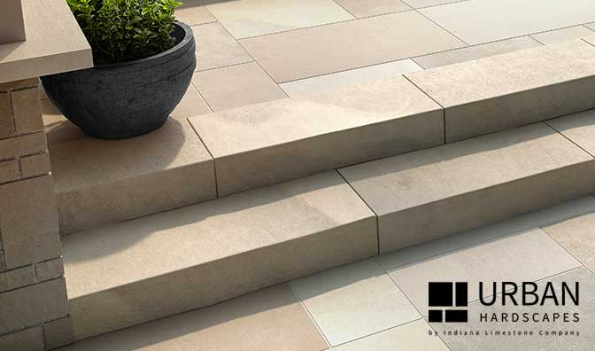 Beautiful Sawn Natural Stone Steps
